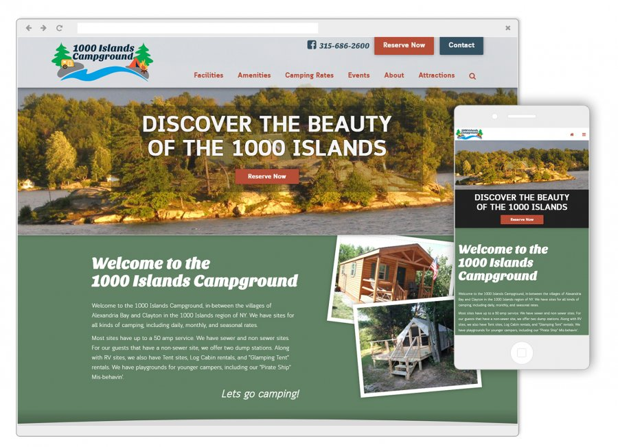 1000 Islands Campground Website