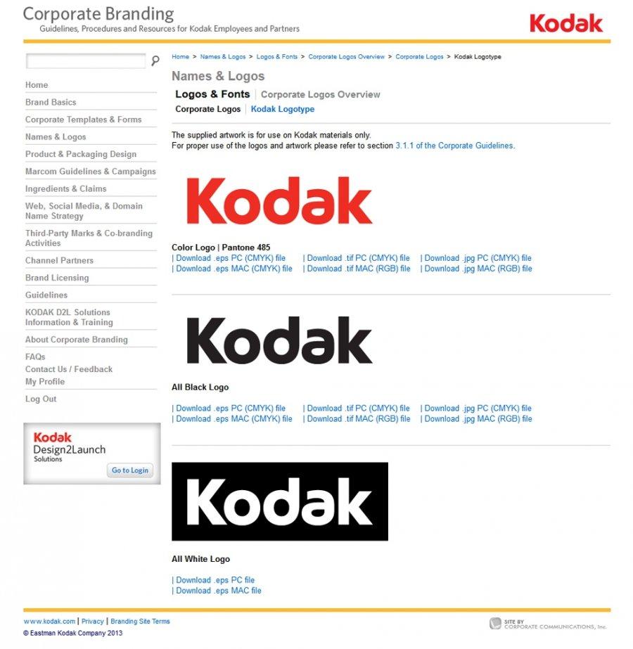 KODAK Corporate Branding Resources