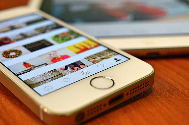 Instagram on Smart Phone