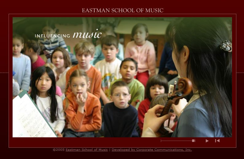 Eastman School of Music Web-mercial Design