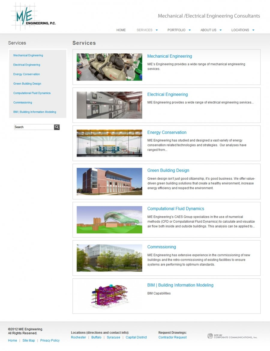 Engineering Services Overview Page