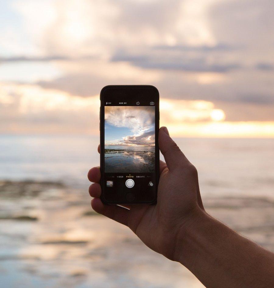 Smart Phone Camera and Sunrise