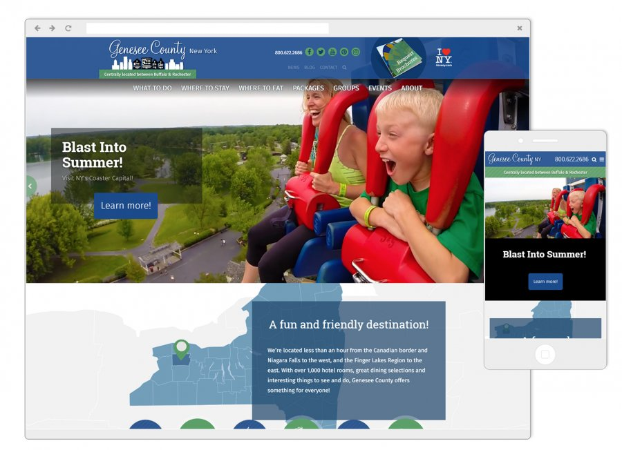 Genesee County Chamber of Commerce Website on Mobile