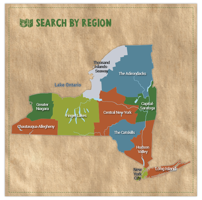 New York State Map Search by Region