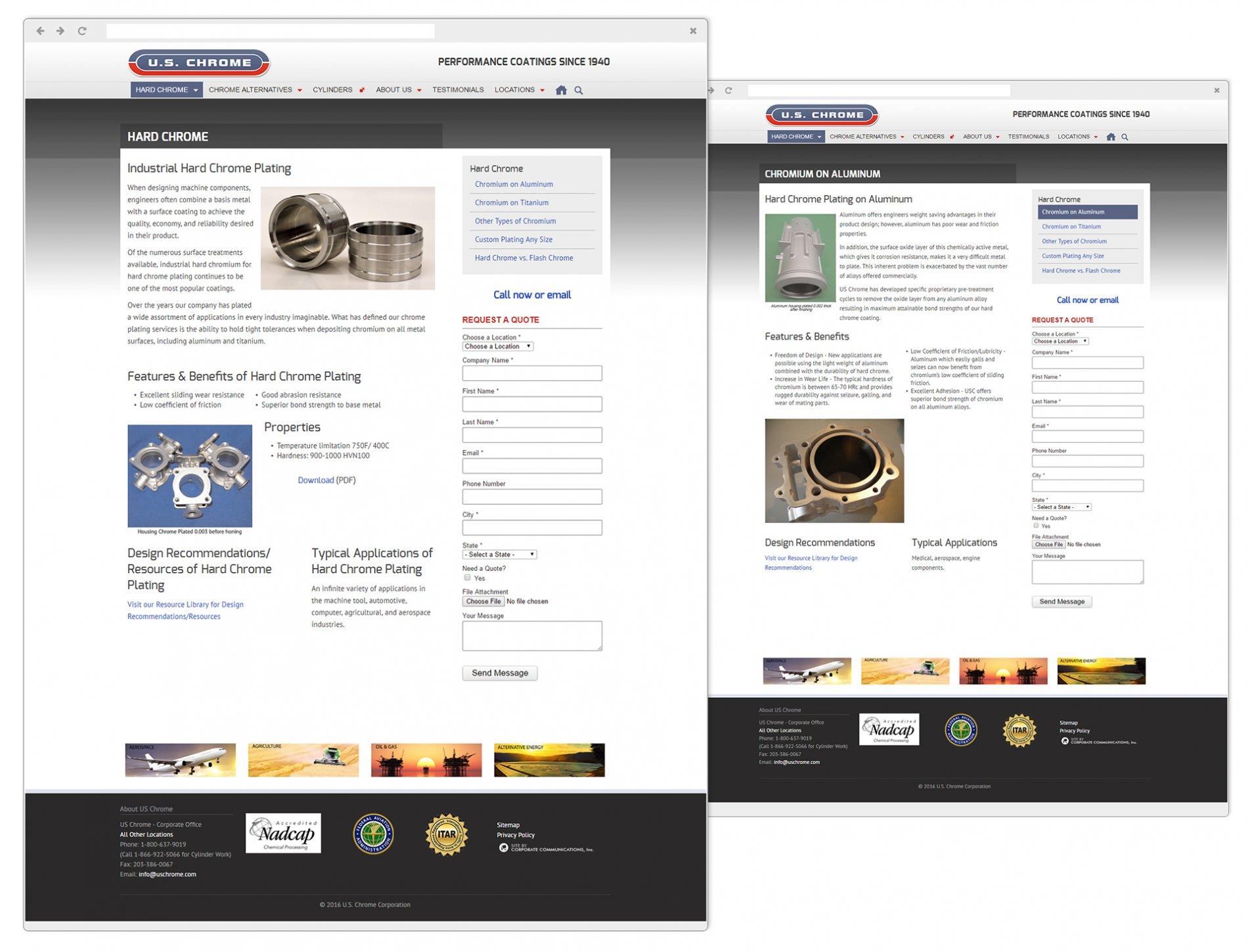 U.S. Chrome Sub Pages