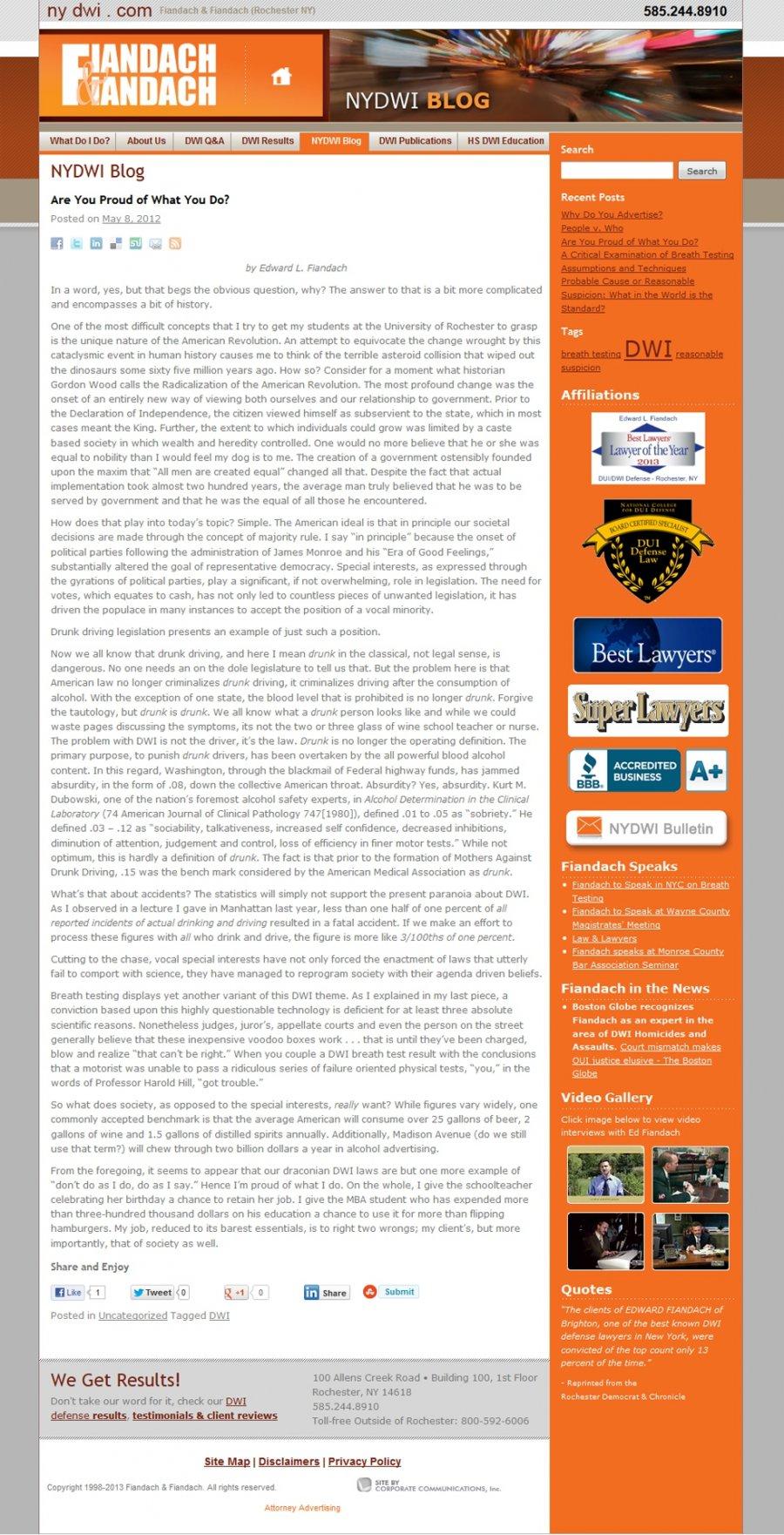 Fiandach & Fiandach Integrated Attorney Blog