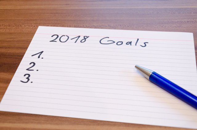 2018 Goals Note Card