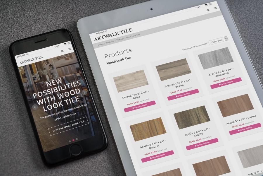 Artwalk Tile Website on Mobile Devices