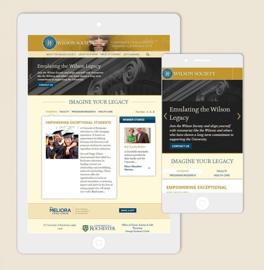 University of Rochester Capital Campaign Website