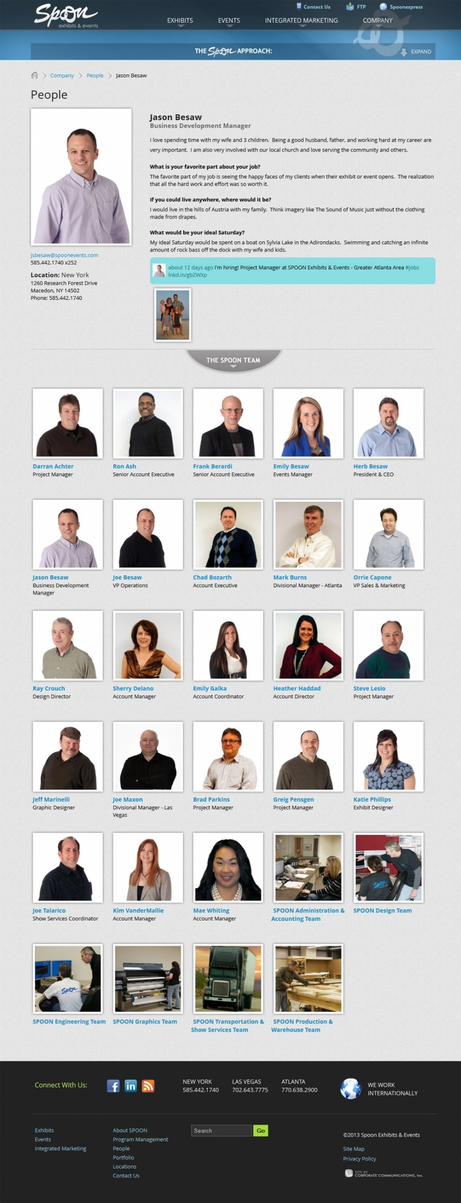 Spoon Exhibits and Events Staff Profiles