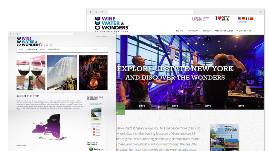 Wine Water & Wonders Website Before and After