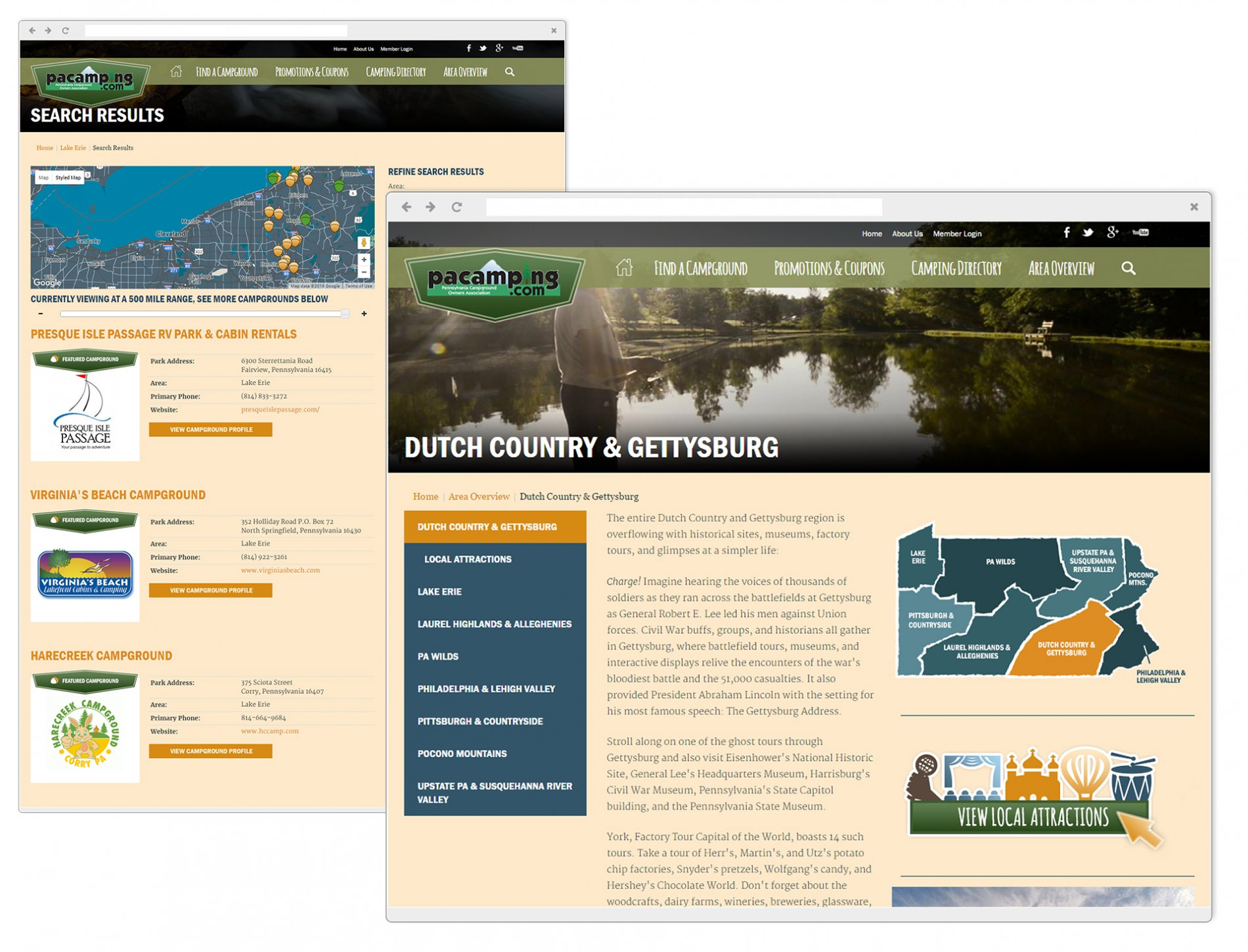 Pennsylvania Campground Owner's Association Website