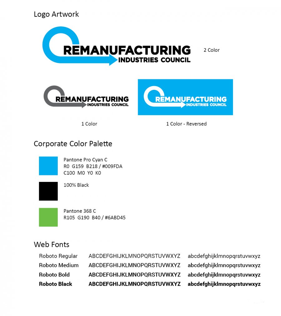 Remanufacturing Industries Council Branding
