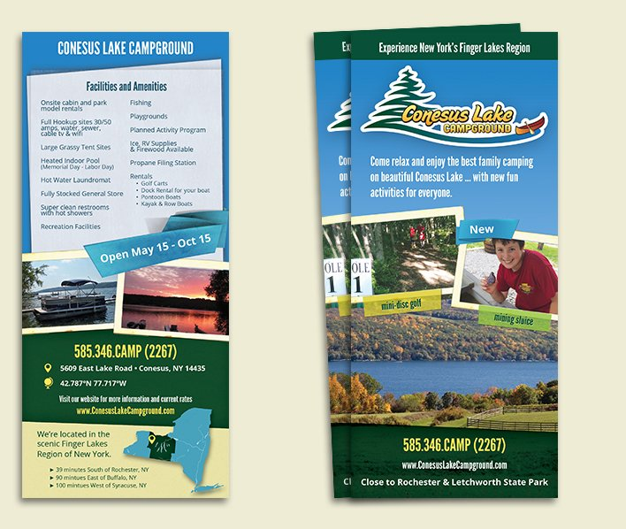 Conesus Lake Campground_Rack Card