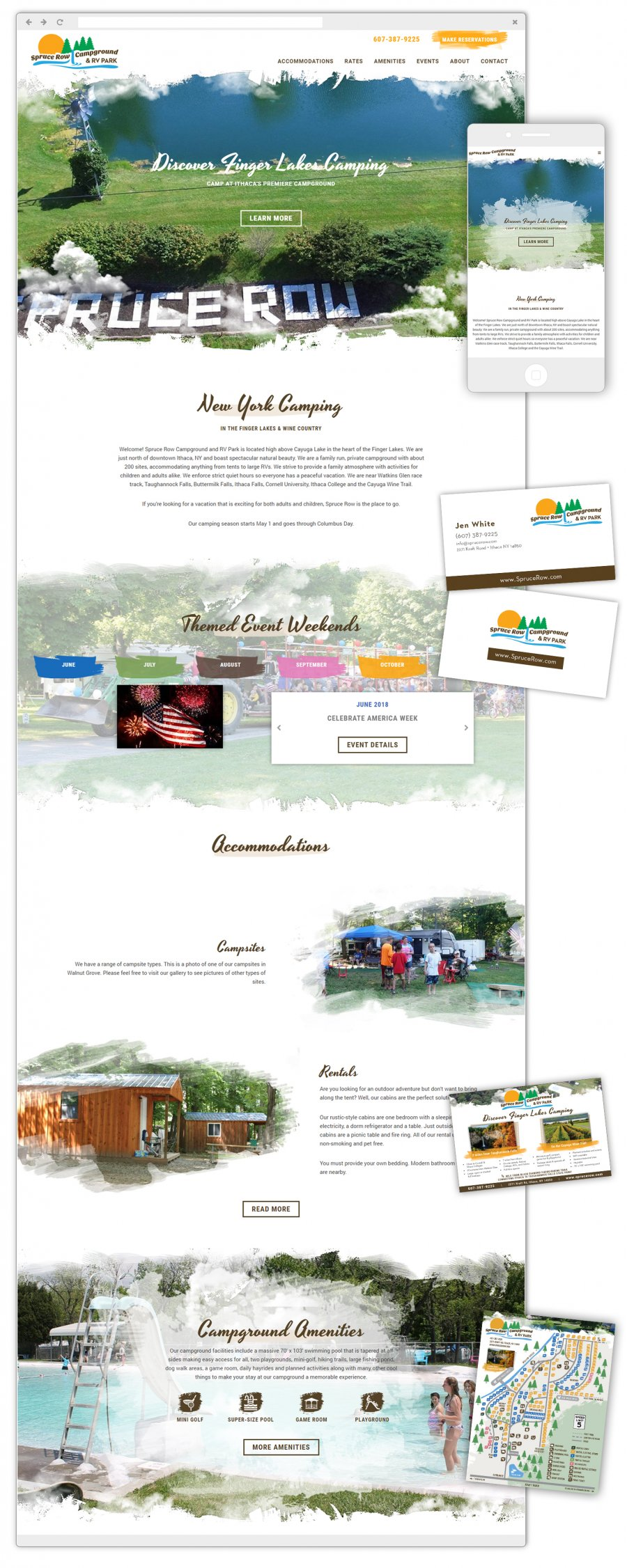Spruce Row Campground & RV Park Responsive Website