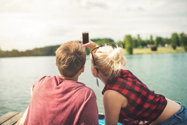 Taking Photos at a Lake