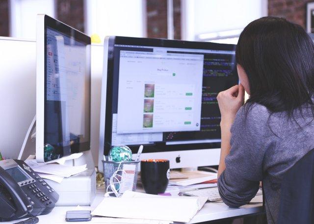 Website Design on Computer Monitors