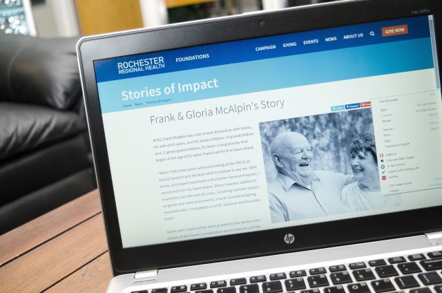 Rochester Regional Health on Laptop
