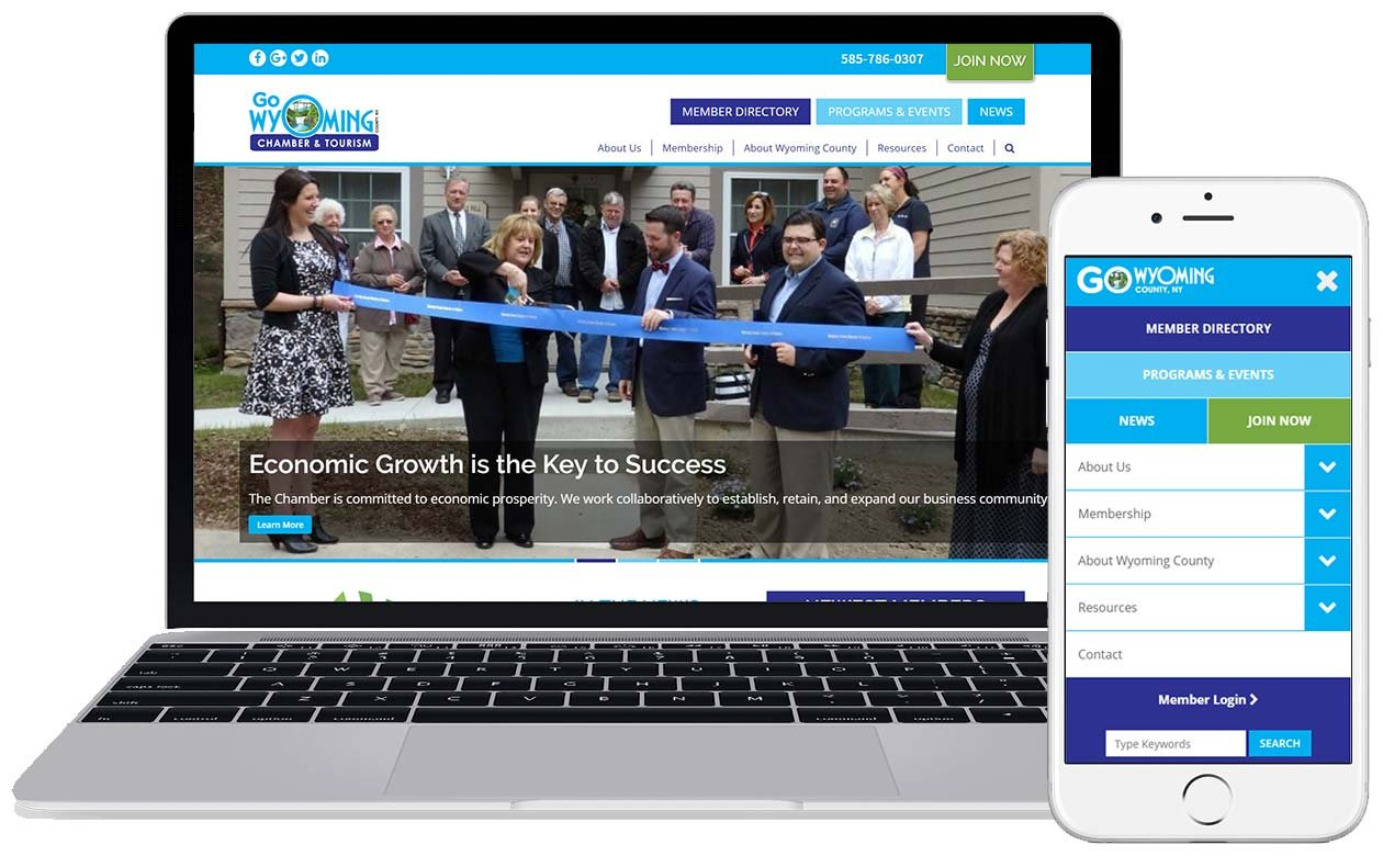 Wyoming County Chamber responsive design