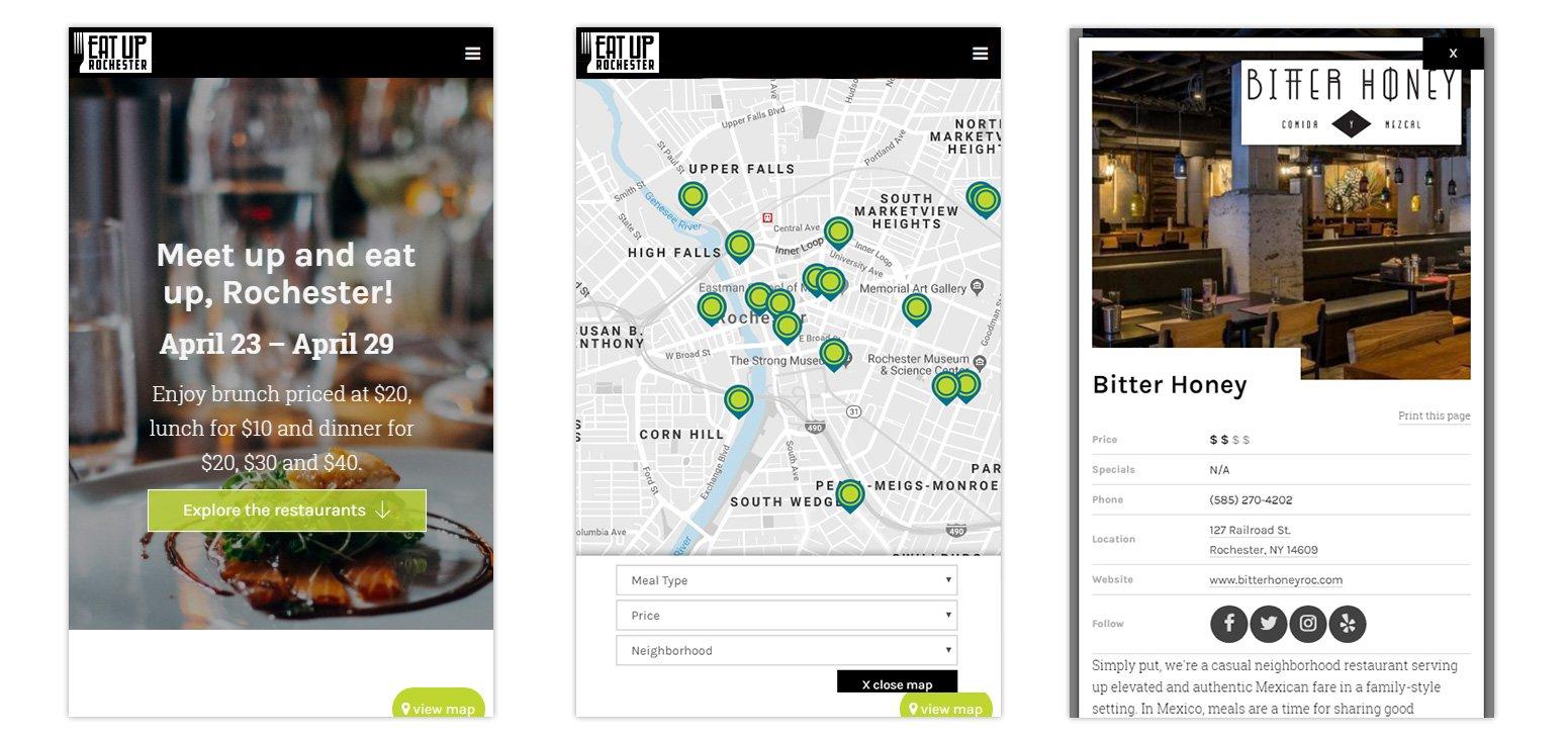 Eat Up Rochester Website