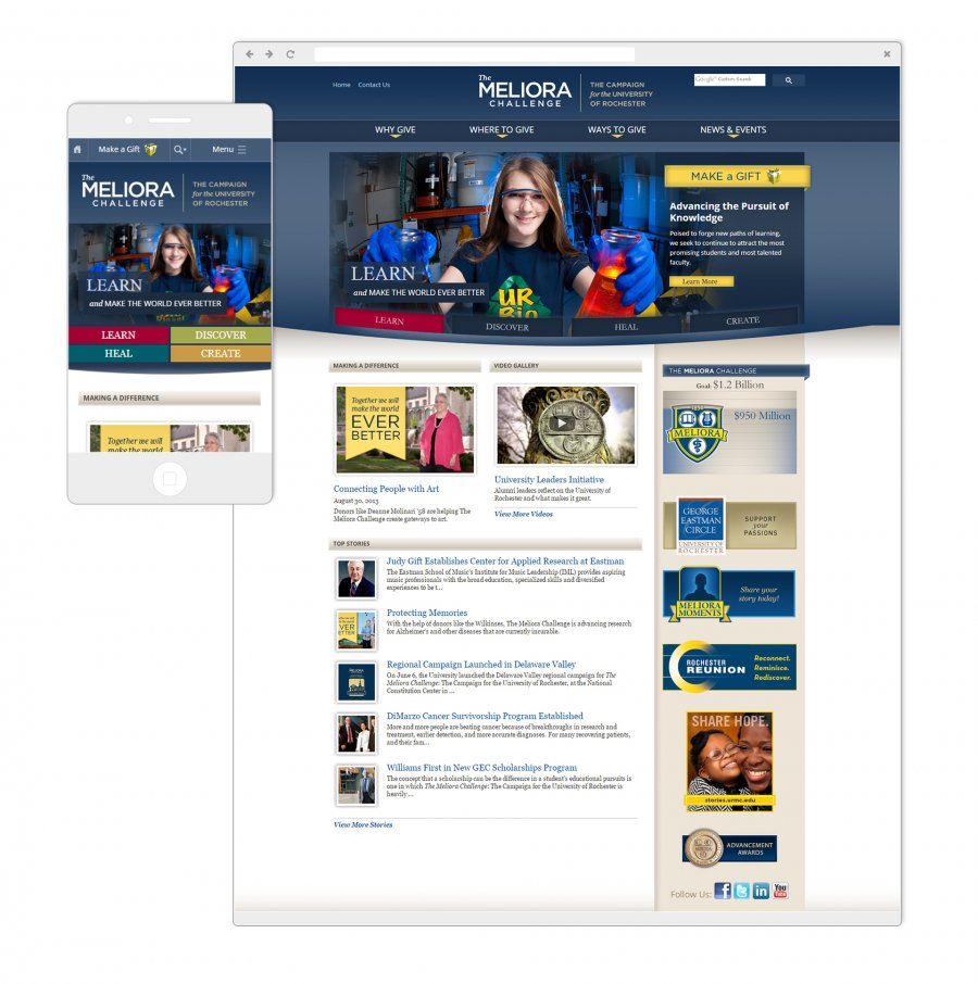 University of Rochester Meliora Website