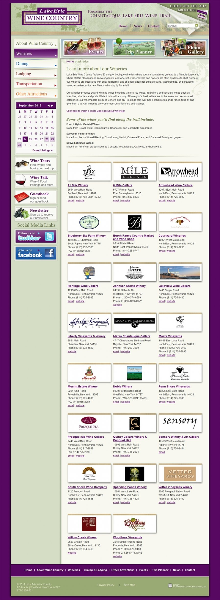 Complete Winery Directory