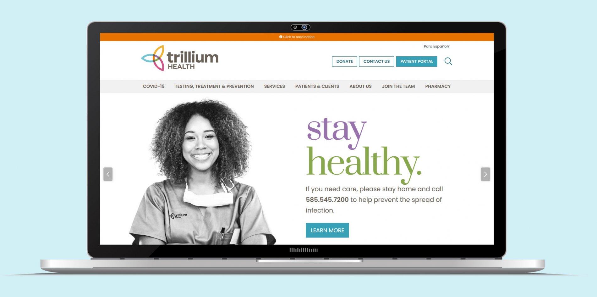 Trillium Health Website Sub Page