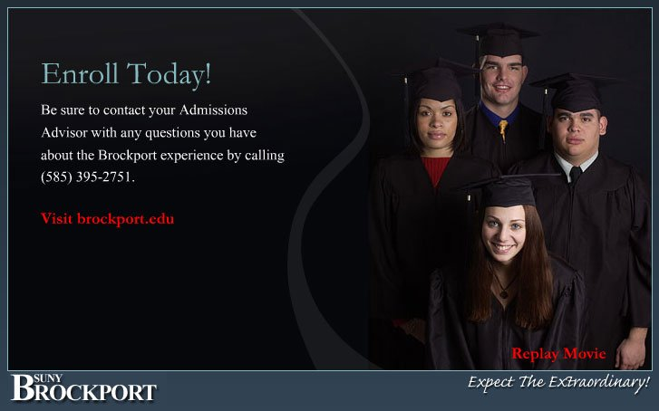 The College at Brockport Web-mercial Design