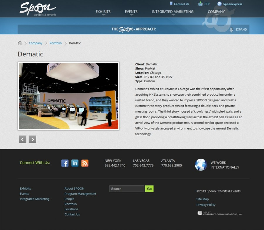 Spoon Exhibits and Events Project Overview Preview