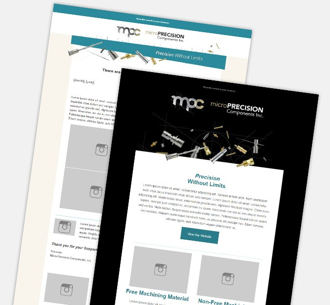 Microprecision email marketing design