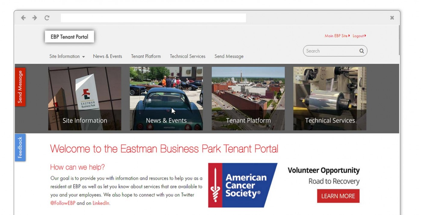 Eastman Business Park Tenant Portal
