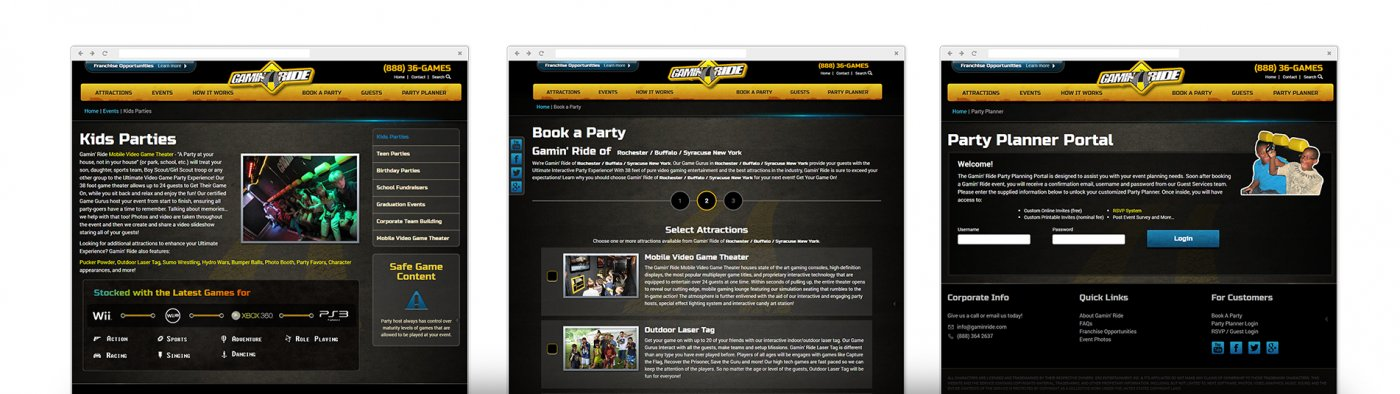 Gamin' Ride Mobile-Friendly Website