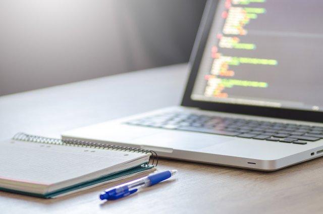 Website Statistics on Laptop