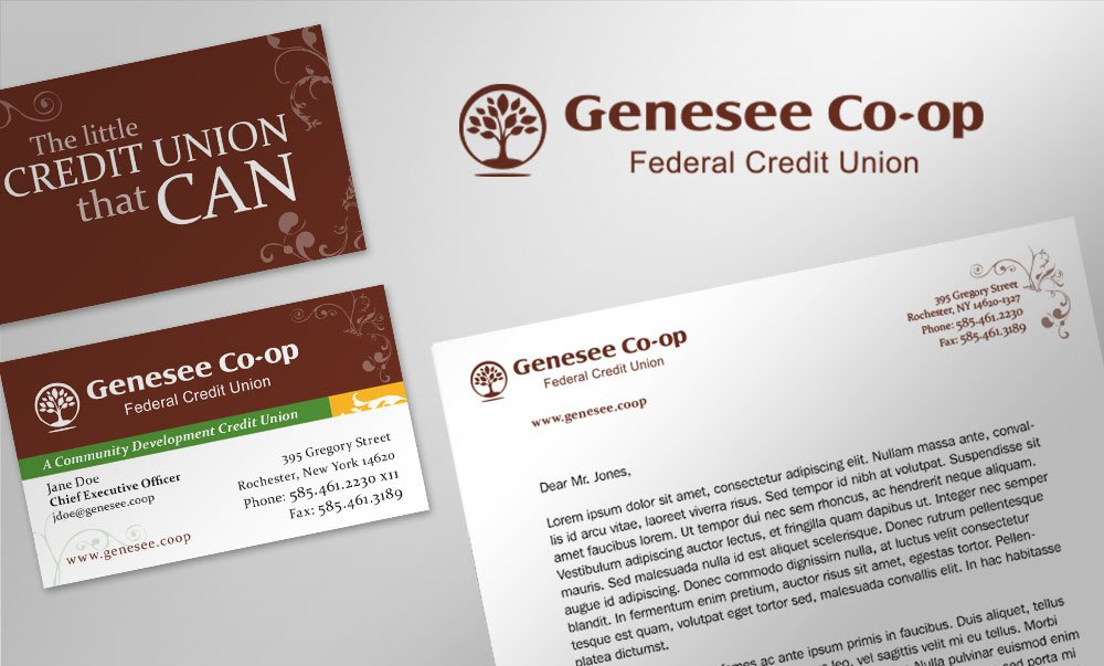 Genesee Co-Op Federal Credit Union Brand Identity