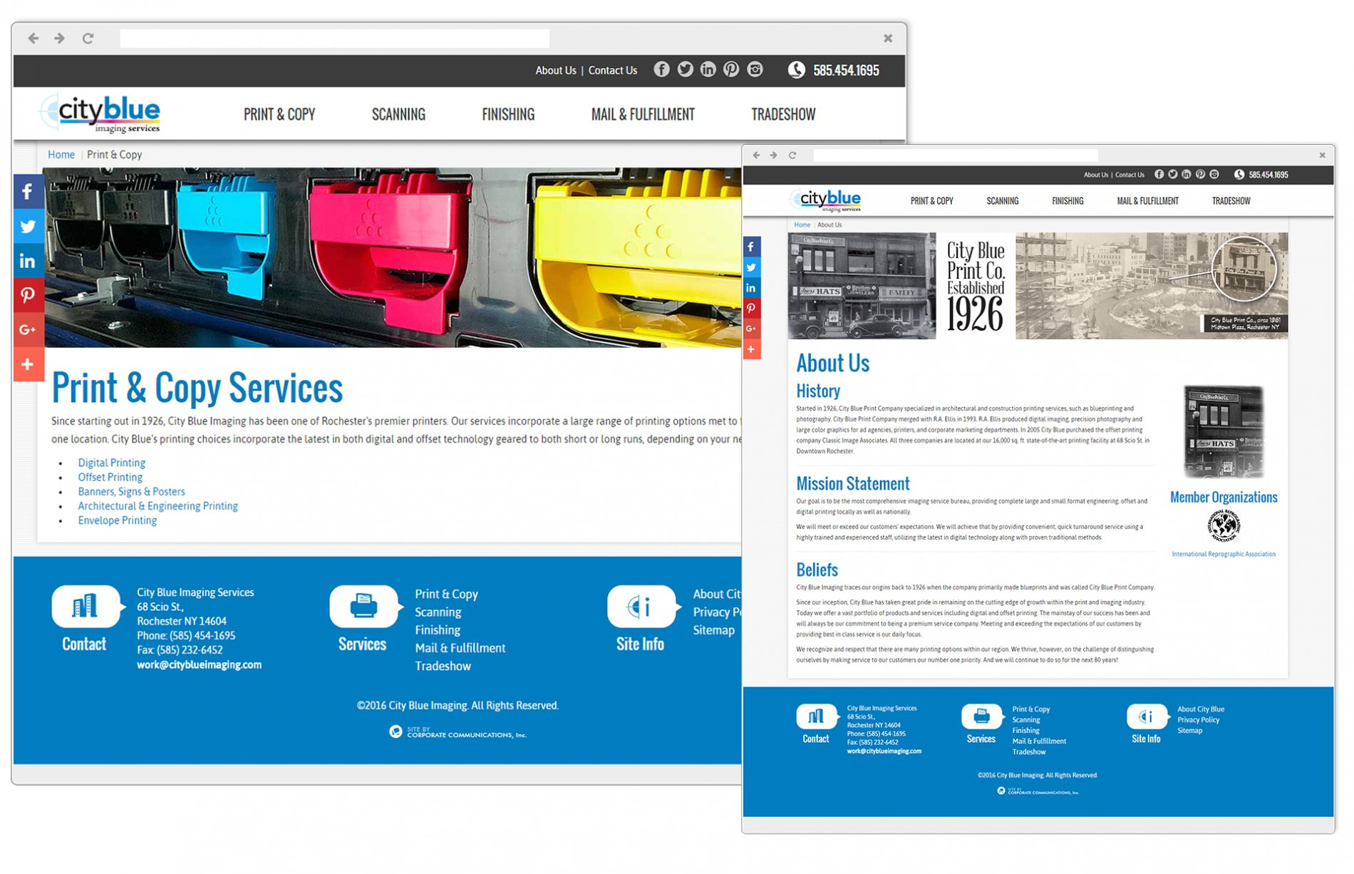 Comprehensive Service & About Us Pages