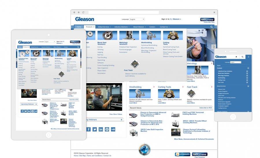Gleason Website Redesign