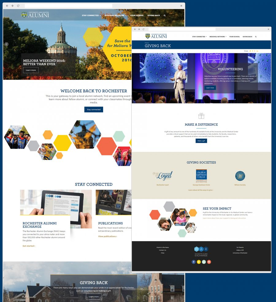 University of Rochester Alumni Portal Website