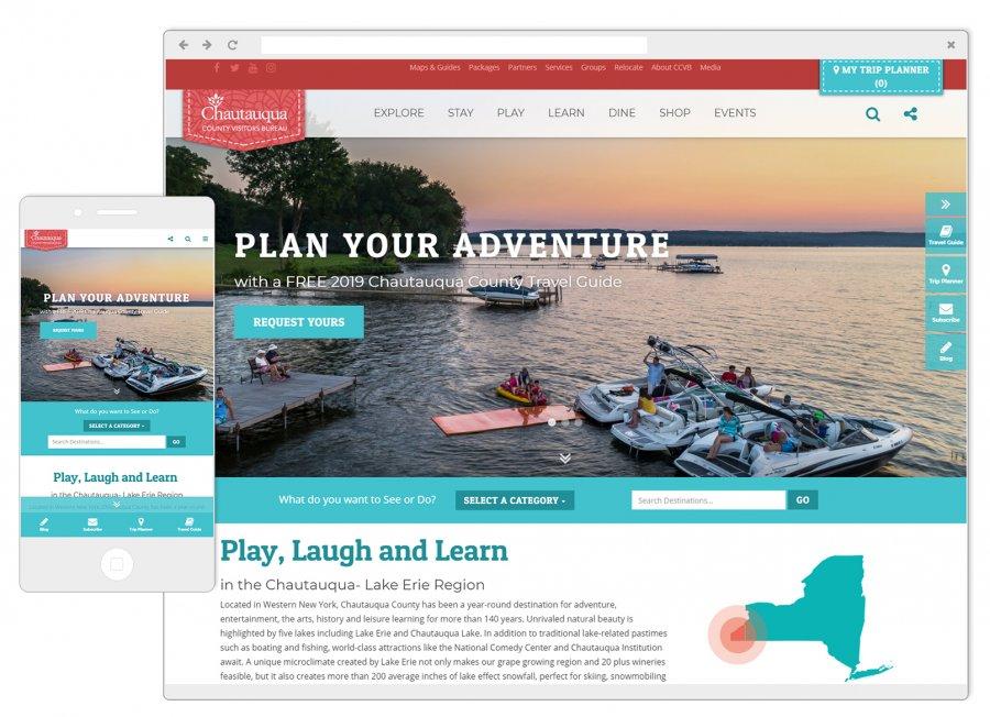 Chautauqua County Visitors Bureau Screenshots