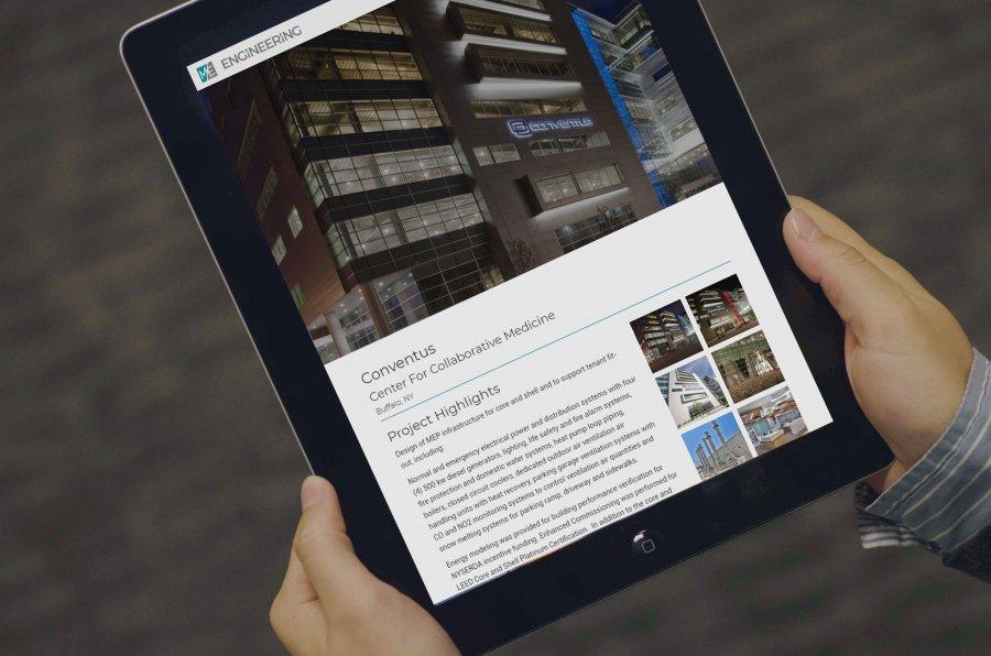 M/E Engineering Website on iPad