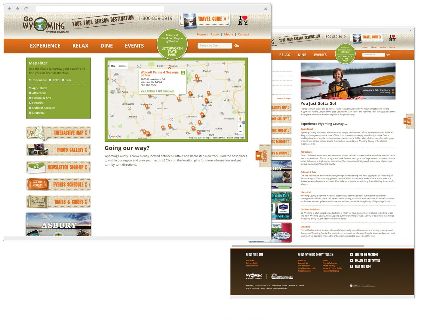 Wyoming County Tourism Interactive Map